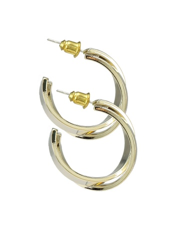 Red's Revenge gold 14K Gold Plated Double Shine Twin Hoops 24BA1ACAD453FEGS_1