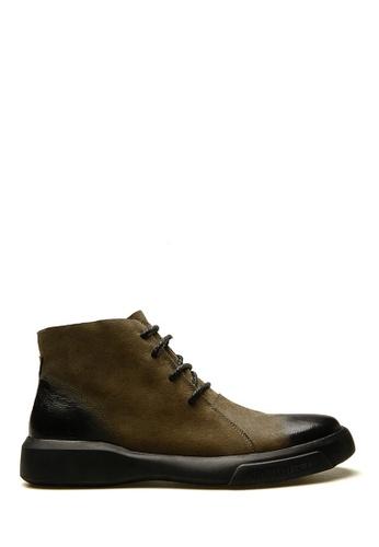 Twenty Eight Shoes 褐色 擦色油蠟牛皮馬球靴 VM12697 6669BSH861DAE1GS_1