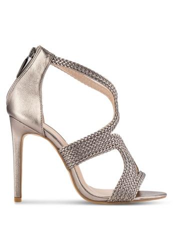 Nose silver Woven Metallic Heels NO327SH45EECMY_1
