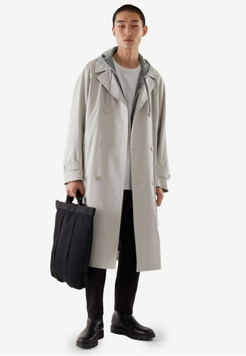 Cos grey Belted Trench Coat BB7DDAAE25787DGS_1