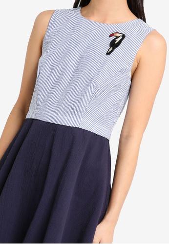 6396ee8b0d Buy ZALORA Patch Detail Sleeveless Skater Dress Online on ZALORA Singapore