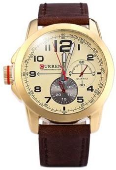 Curren 8182B Men's Leather Strap Watch