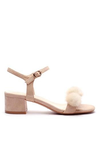 Twenty Eight Shoes Fur Ball Ankle Strap Sandals 320-30 4A8ABSH2F6C010GS_1