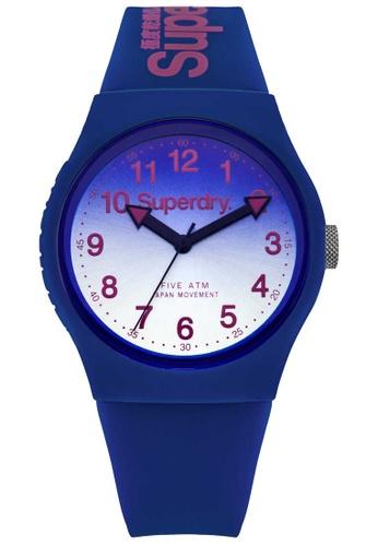 Superdry blue Superdry Urban Blue Silicone Watch 80F08AC9960691GS_1