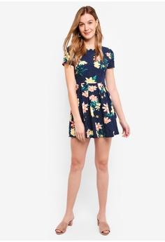 194c9ec202e ZALORA Basic Short Sleeves Fit And Flare Dress RM 74.50. Sizes XS