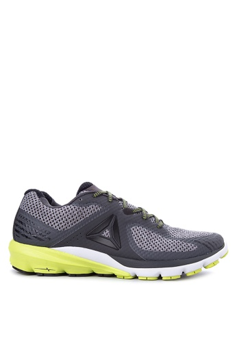 Reebok black and grey and white and yellow OSR Harmony Road Training Shoes RE600SH40BALPH_1