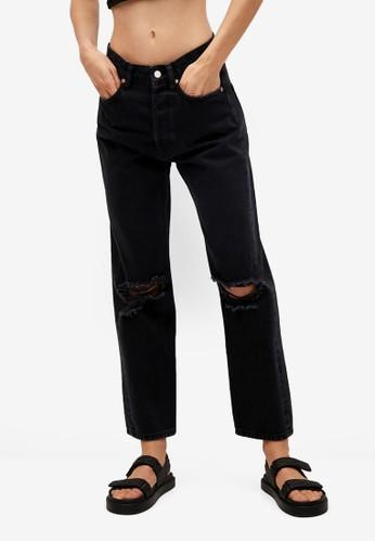 Mango grey High Waist Straight Jeans 1C34AAA1AA245EGS_1