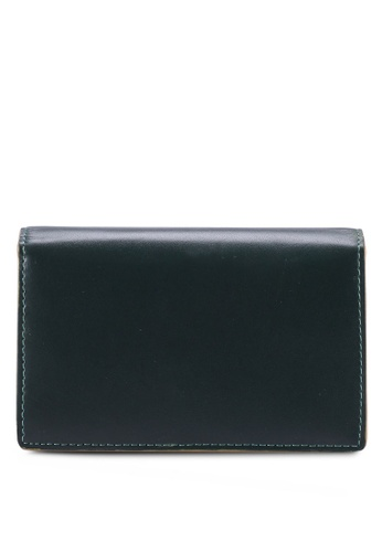 Gay Giano green Full Grain Embossed Leather Card Holder with Extra Edge Ink 7A0F8AC1A21965GS_1
