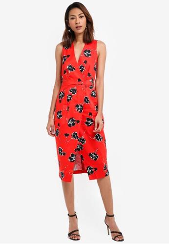 CLOSET red Sleeveless Wrap Dress ECFFBAAE13B3C2GS_1