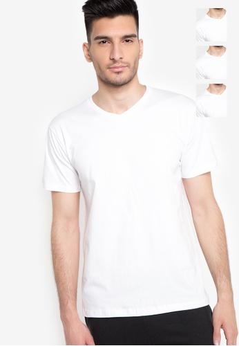 4a01c51af9c Shop Organic Plain V-Neck T-Shirt 3-in-1 Pack Online on ZALORA ...