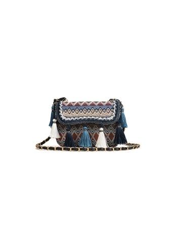 Seoul in Love grey and blue Johanna Sling bag in Blue Tassel 8E0BDACCEA93C6GS_1