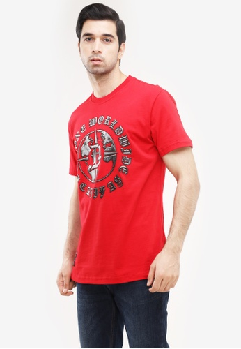 Dyse One red Round Neck Regular Fit 6A546AAF65DDA1GS_1