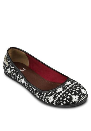 Tara 撞色民族風平底鞋, 女鞋,esprit taiwan 芭蕾平底鞋