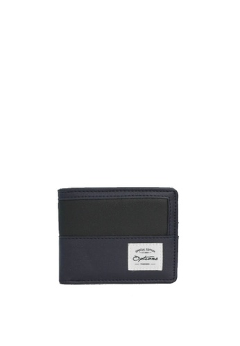 OPTIONS black and blue and navy Options Button PU Wallet 4E338ACAB27908GS_1