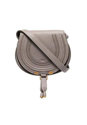 Chloé grey Chloe Mini Marcie Crossbody Bag in Cashmere Grey 0E54FACD82F282GS_1