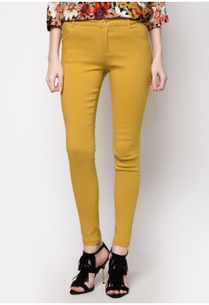 Stretch Pants with Contrast Stitching