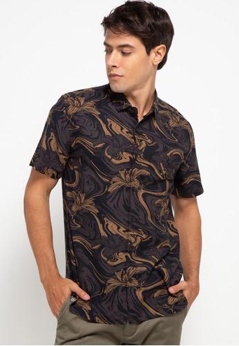 Men's Top brown ENERO 4 - BROWN Shirt 05796AAF03589CGS_1