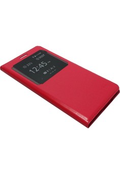 S-View Flip Cover for Samsung Galaxy E7 (Red)