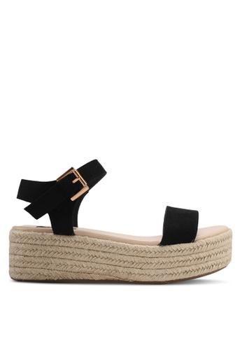 ZALORA black Espadrille Flatform Sandals 111EASH24CE314GS_1