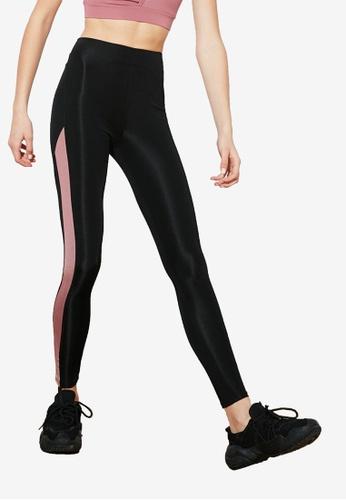 Trendyol black Colorblock Sports Leggings CFCFFAA128F661GS_1