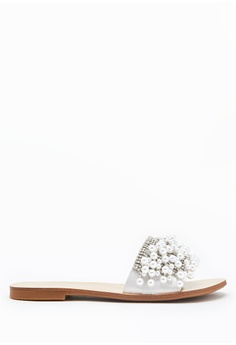 7fd05311a PAZZION silver Embellished Pearl Sandals 26786SH82E5F4DGS 1