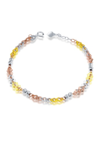 MaBelle silver and gold 14K/585 Yellow, White and Red Color Gold Gold Bracelet E67BBAC9DBE4C1GS_1