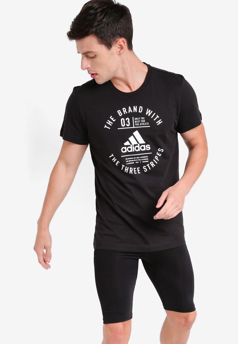 adidas Black adidas Shirt emblem T qTcwAX4T