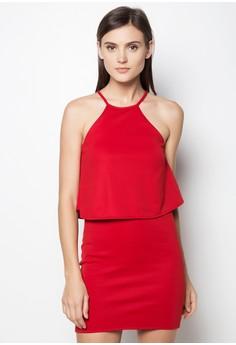 Halter Overlap Dress