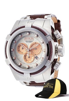 Bolt 53mm Case Watch 14611 with FREE Baseball Cap