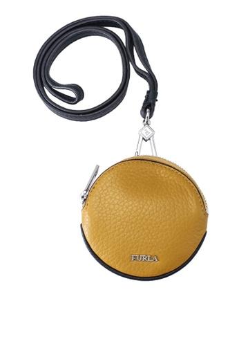 Furla yellow Ulisse Earphone Case E5063AC436C7F5GS_1