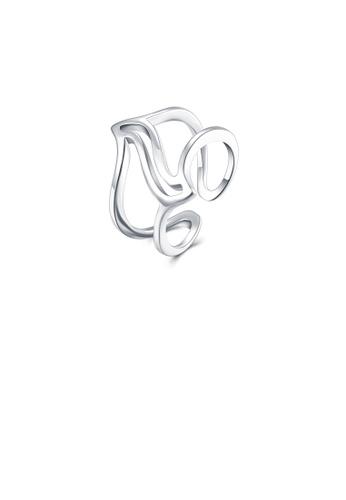 Glamorousky silver Simple Creative Line Adjustable Split Ring 1CD53AC2850ADAGS_1