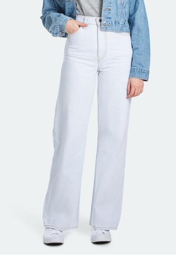 Levi's white Levi's Ribcage Wide Leg Jeans 79112-0008 D4C14AAAE48FB9GS_1