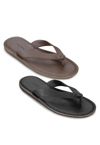 二入組扭結夾腳拖鞋, zalora 包包 ptt鞋, 拖鞋