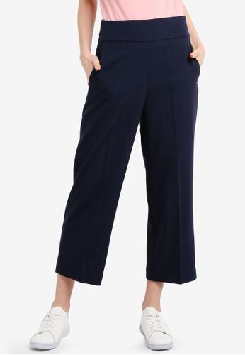 ESPRIT navy Woven Cropped Pants 92D40AA377D933GS_1
