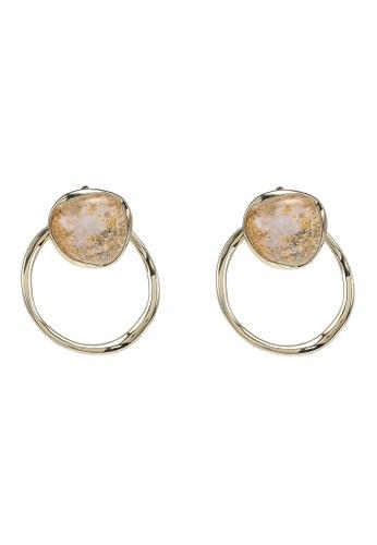GLOBAL WORK beige Gemstone Ring Earrings 799F0AC8360237GS_1