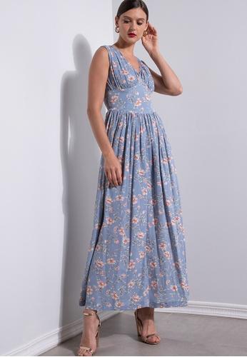 ZALORA OCCASION multi Ruched Corset Waist Dress 79FD0AA3A79E24GS_1
