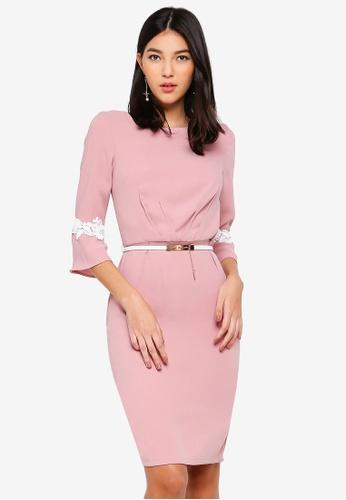 Paper Dolls pink Pink Pleat Dress 30136AAA4E8733GS_1