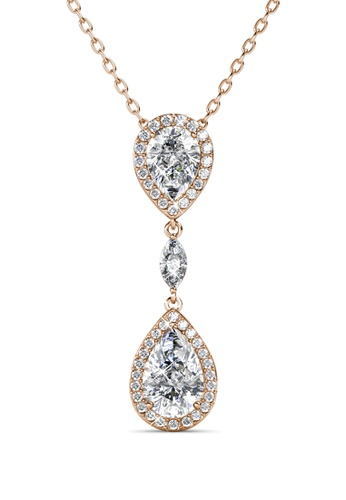 Her Jewellery gold Layla Drop Pendant (Rose Gold) - Embellished with Crystals from Swarovski® 32D76ACE28E9CAGS_1