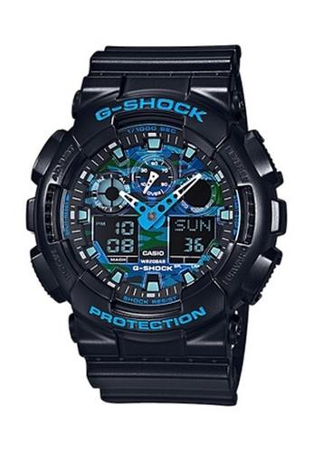 G-shock black and blue CASIO G-SHOCK GA-100CB-1A 91667ACD029479GS_1