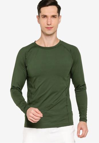 ZALORA ACTIVE green Long Sleeve Muscle T-Shirt 77813AA5637F94GS_1
