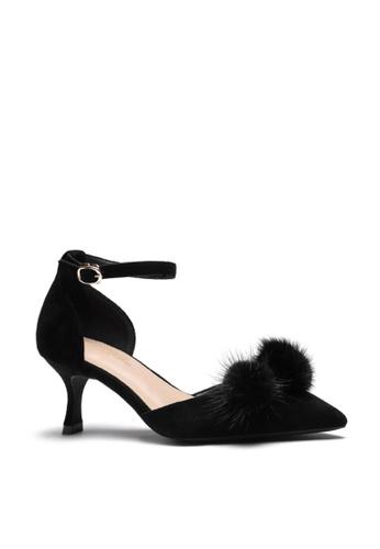 Twenty Eight Shoes Fur Ball Strap Heel Pumps 165-31 FC843SH90CB9C3GS_1