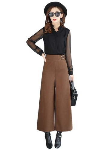 LYCKA brown LF7403 Lycka Trendy Lady Pants-Brown LY529AA0HD6HSG_1