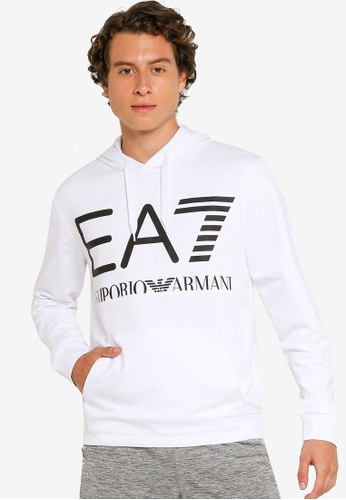 EA7 white Logo Series Hoodie With Oversized Logo 84938AABCE7596GS_1