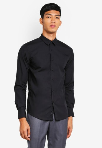 Electro Denim Lab black Luxurious Poplin Shirt 70ED9AA9FCF8BDGS_1
