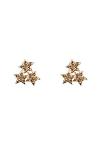 Red's Revenge gold Tri-Star Stud Earrings RE144AC0RRV9MY_1