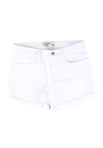 Abercrombie & Fitch white Mini Mom Shorts 1AA8CKA3278958GS_1