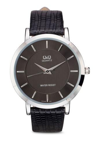 Q&Q Q944J3esprit台灣門市01Y 壓紋仿皮手錶, 錶類, 飾品配件