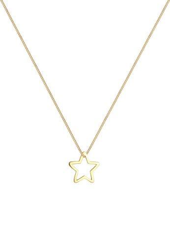 ELLI GERMANY gold Elli Germany Necklace Tank Chain Star Pendant Christmas Gold Plated 925 Sterling Silver 9A218AC0951A06GS_1