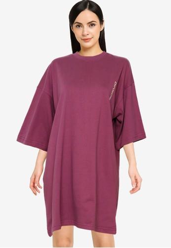 Public Desire purple Graphic Oversized T-shirt Dress BA14CAAB62D62DGS_1