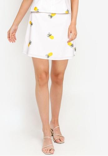 ZALORA OCCASION white A-Line Mini Skirt 63470AA6E4B1DCGS_1
